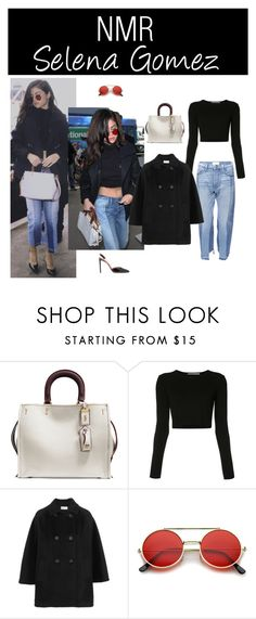"""Outfit #677"" by nmr135 ❤ liked on Polyvore featuring Coach 1941, Rosetta Getty, RED Valentino, ZeroUV, StreetStyle, selenagomez, airport, LAX and nmr"