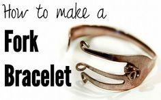 DIY How To Make A Fork Bracelet  Source: http://www.starsforstreetlights.com/2011/11/how-to-make-fork-bracelet.html