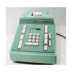 Vintage Mint Green Remington Rand Electric Adding Machine