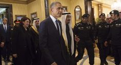 RIYADH, Saudi Arabia - New Saudi king lavishes Obama with personal attention as aides and reporters gaks. 01/27/15