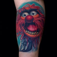 Jim Henson Animal Muppet tattoo. Artist: Nikko Hurtado