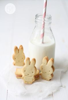 prettylittlepieces:  StrawberryPetit Beurre  No way, Miffy cookies!