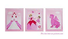 Tableau-enfant-fille-princesse-fee-rose-dessine-moi-un-prenom