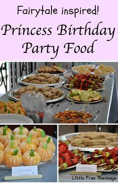 Princess birthday party food ideas - Little Free Monkeys