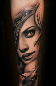 Image result for women's faces tattoos