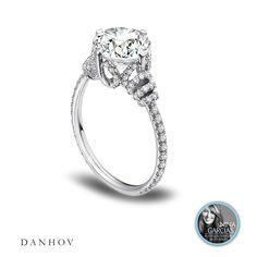 A Nina Garcia platinum must-have! Danhov platinum Eleganza single shank diamond engagement ring.