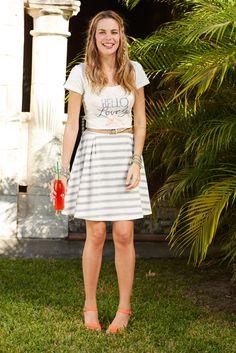 Hello, Lovely! Spring 2015: Hello Lovely Tee and Simply Striped Skater Skirt