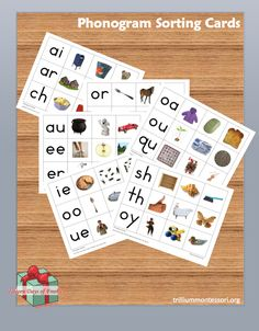 Montessori Phonogram Sorting Cards (free for a limited time)