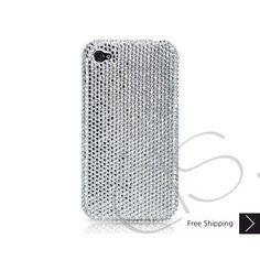 1a17a8dfd688 Classic Crystallized Swarovski iPhone 5 S and 5C Cases - Silver bling iPhone  5