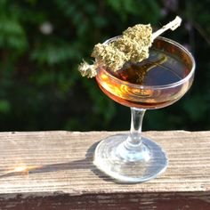 "Manhattan ""High"".. {cannabis infused whiskey}   ;)"