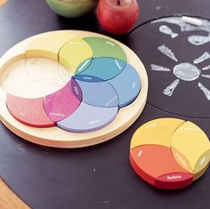 Color Wheel puzzle - Pottery Barn Kids, no longer available. Pottery Barn Kids, Pottery Barn Colors, Casa Hipster, Baby Toys, Kids Toys, Toddler Toys, Bebe Love, Color Puzzle, Montessori Toys