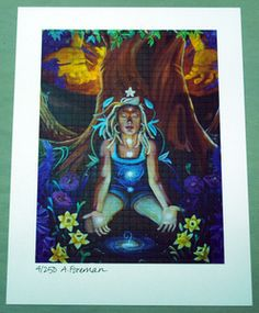 "Image of Ashely Foreman ""Heaven and Earth"" signed Blotter Art"