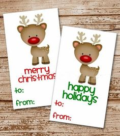 2015 Best Hand Print Christmas Gift Tags For Best Gifts - Fashion Blog
