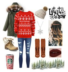 """Let it Snow"" by s-hiver ❤ liked on Polyvore featuring J Brand, Disney, Steve Madden, Forever 21 and SOREL"