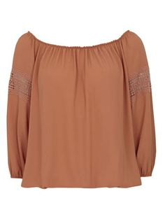 Terracotta Red Lace Blouse
