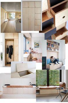 BYG-SELV BÆNK – PLADSOPTIMERING I VORES LILLE LEJLIGHED Big Houses, Home Projects, Entryway, Cozy, Interior, Daybed Ideas, Furniture, Home Decor, Mad
