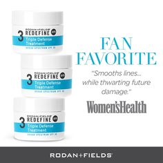 A steady diet of intelligent skincare is the foundation of youthful, healthy-looking skin. We created the Rodan + Fields REDEFINE Regimen as a comprehensive skincare solution that layers cosmetic ingredients and proven peptide technology to help defend against and reduce the visible signs of aging for noticeably firmer, smoother, flawless-looking skin.