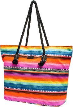 RIP CURL Strandtasche Damen - Rip Curl Geräumige Strandtasche aus bunt bedrucktem Textil mit Henkeln in Tauoptik 1 großes Hauptfach mit Reißverschluss und einem Reißverschlussinnfach gefüttert mit abwaschbarem Material Maße (H/B/T): ca. 35 x 49 x 14 cm.