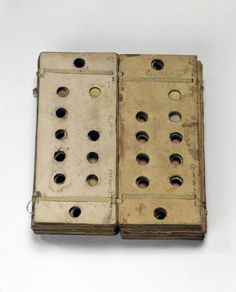 Punched cards for Babbage's Analytical Engine, 1834-1871.