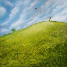 'Red Kite' by Petar Novakovic Red Kite, Country Roads, Mountains, Artist, Nature, Travel, Painting, Naturaleza, Viajes