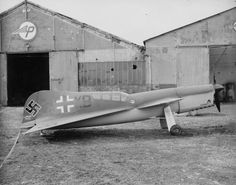 The Payen Pa-22 was a French experimental aircraft designed by Nicolas-Roland Payen, seen here at the Payen factory in Luftwaffe markings after its capture. It had an unconventional, propeller-driven design, with short conventional wings mounted in front of delta wings. It had a fixed front landing gear and the cockpit was behind the midline. It did not enter operational service.