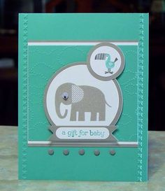 Stampin Up Zoo Babies - A Gift For Baby Card