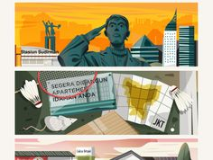Jakarta City, Graphic Design, Creative, Illustration, Movie Posters, Film Poster, Illustrations, Billboard, Visual Communication