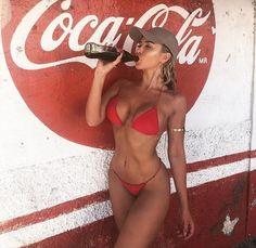 Amber Emery x 5 Bikini Babes, Hot Bikini, Bikini Girls, Playboy, Cola Wars, Coca Cola Bottles, Coke Cans, Lingerie, Country Girls