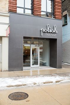 modern commercial storefront | Polish Nail Bar | ReDesign Commercial | Modern architectural and ...