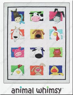 Custom Crib or Twin Quilt  by Amy Bradley  Animal by QuiltsForU2, $175.00
