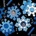 Snowflake Magnet Frame Craft Kit. Winter craft ideas for kids.