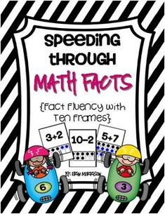"These flash cards are a great way for your students to practice their addition and subtraction math facts. Each flash card has the math fact at the top and a visual of the fact represented on ten frames. These flash cards encourage your students to rely on their ""sense of ten"" and not on their fingers when practicing their addition and subtraction facts!"