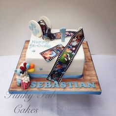 Photo reel, cinema themed cake