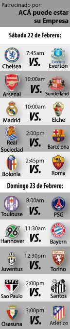 Fútbol Recomendado para este fin de semana: en las ligas de Alemania, Brasil, España, Inglaterra e Italia  http://blogueabanana.com/deportes/futbol-recomendado-22-al-23-febrero.html