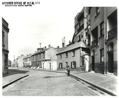 Gloucester Street looking south, The Rocks (NSW) [Rocks Resumption photographic survey] Street Look, Street View, The Rocks Sydney, Gloucester Street, Historical Images, Old Photos, Old Things, Australia, Park
