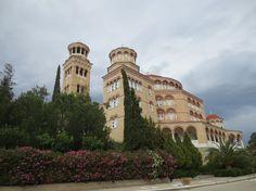 Cathedral of St. Nektarios in Aegina island, Greece - Athens