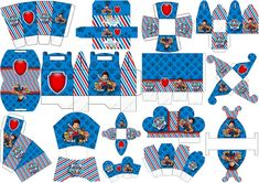 Paw Patrol: Print Boxes for free. Paw Patrol Party, Paw Patrol Birthday, Party Printables, Free Printables, Imprimibles Paw Patrol, Oh My Fiesta, Printable Box, 3rd Birthday Parties, Party Themes