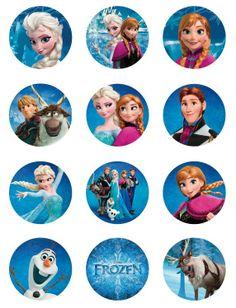 tags para cupcake Frozen