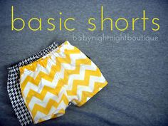 Baby Night Night: shorts diy pattern