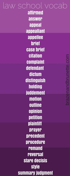 law school vocab | brazenandbrunette.com