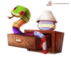Daily Paint #982. Sock Snekkk (OG) by Cryptid-Creations.deviantart.com on @DeviantArt