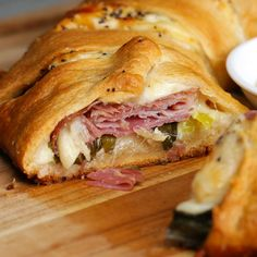 Baked Ham & Cheese Ring Recipe by Tasty