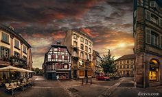 Colmar Alsace France by dleiva Photo Report, Cities In Europe, Digital Photography, Skyscraper, Street View, Street Art, Scene, Landscape, Architecture