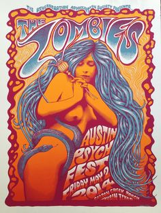 Mishka Westell The Zombies Psych Fest Austin Poster