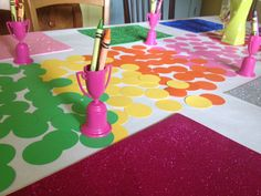 Cute #rainbow table decor at this #party.