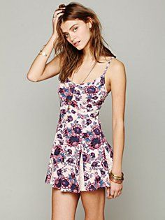 Printed Bed Of Blossoms Slip in clothes-dresses  #FloralShop #FreePeople