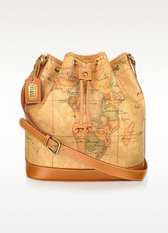 20b9cc55841d3 1a Prima Classe - Geo Printed Drawstring Bucket Bag - Alviero Martini 1A  Classe Backpack Purse