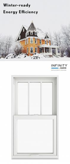 Don't let freezing temperatures stop you from enjoying your home. Keep out the cold with energy-efficient Infinity Double Hung windows.