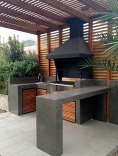 Stunning Outdoor Kitchen Ideas & Designs (With Pictures) For Stunning Outdoor Kitchen Ideas & Designs (With Pictures) For 201926 DIY Outdoor Grill Stations & Kitchens - Outdoor & Spaces - amp DIY Grillsta Backyard Kitchen, Outdoor Kitchen Design, Outdoor Kitchen Bars, Simple Outdoor Kitchen, Outdoor Bars, Outdoor Pool, Outdoor Grill Station, Outdoor Barbeque Area, Diy Bbq Area