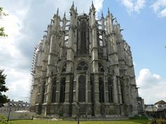 Beauvais Cathedral, located in Beauvais, France. Carved from a hundred million pounds of stone, soaring effortlessly atop a spider web of masonry, Gothic cathedrals are marvels of human achievement and artistry. But how did medieval builders reach such spectacular heights?